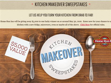 kitchen makeover sweepstakes the home run inn kitchen makeover sweepstakes
