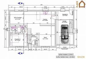 maison de 137m2 habitables realisation d39une plan b With realisation de plan de maison