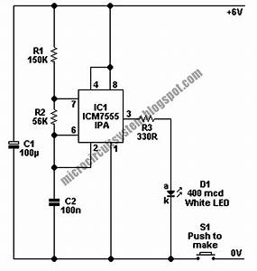 Led Torch Circuit Using 7555 Ipa Ic U2019s