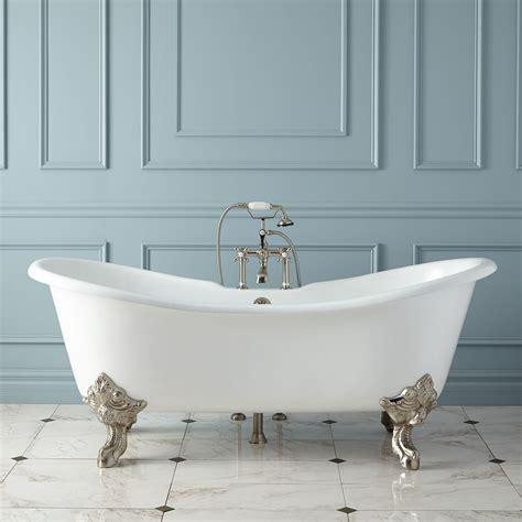 aubretia cast iron double slipper tub bathroom
