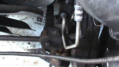 power steering pressure hose replacement   gm