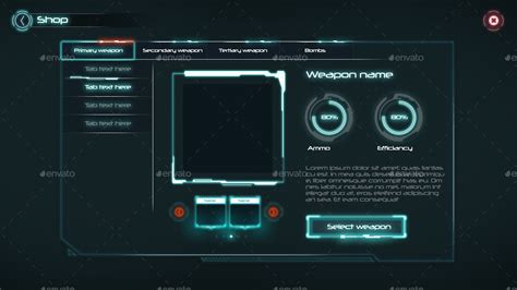 sci fi game ui  anchorpointheshan graphicriver