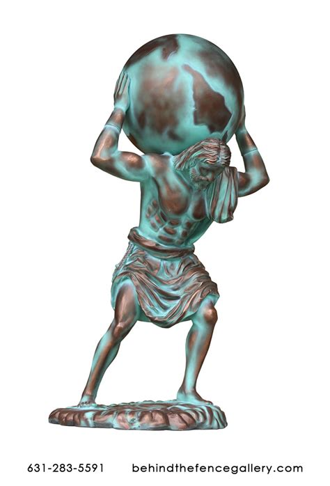 atlas statue  bronze finish atlas statue  popy