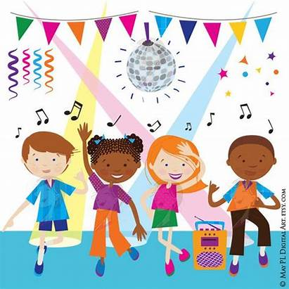 Party Clipart Dancing Title
