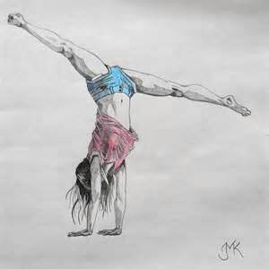 Easy to Draw Gymnastics Drawings