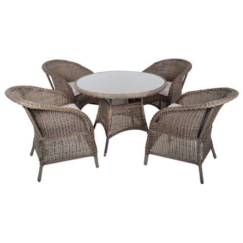 marseille wicker rattan garden furniture table 4 chairs set