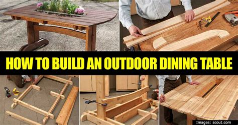 how to build a simple outdoor table for dining