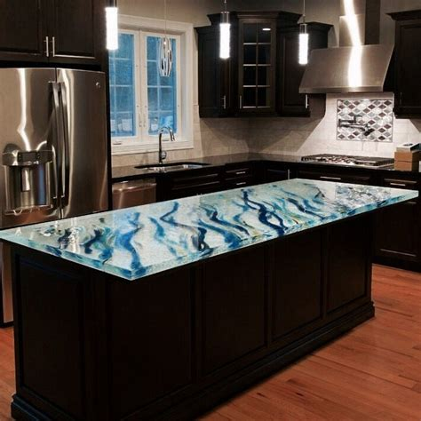 glass top kitchen island 17 best images about unique glass kitchen counter and 3826