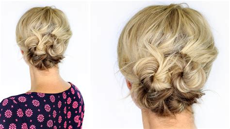 knotted updo  short hair youtube