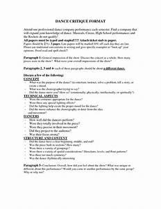 Dance Critique Essay Controversial Essays Examples Dance Performance