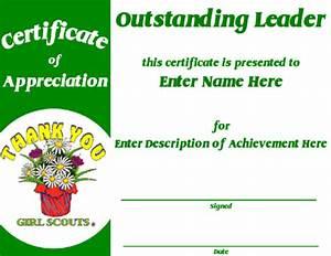 girl scout award certificate template certificate of With girl scout award certificate templates