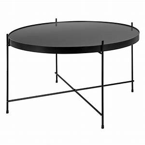 Table Basse Noire Ronde : table basse ronde valdo noire m testez nos tables basses rondes valdo noires m rdv d co ~ Teatrodelosmanantiales.com Idées de Décoration