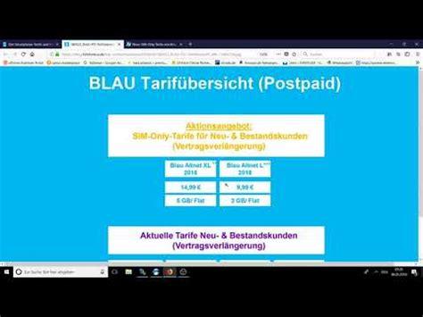 Blau Prepaid Karte Aufladen