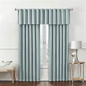 rockwell room darkening window curtain panel and valance bed bath beyond