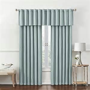 rockwell room darkening window curtain panel and valance bed bath beyond