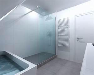 Rénovation salle de bain grise à Rennes, Pacé Bains et Solutions