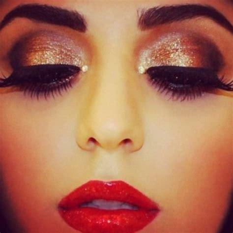 glamorous makeup ideas  red lipstick