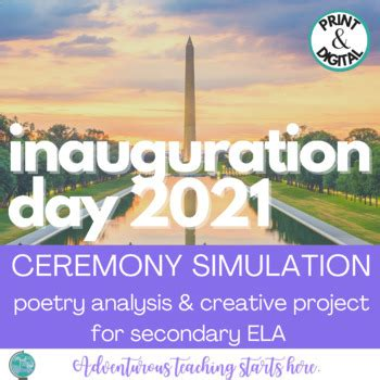Treat lesson planning as the creative exercise it is. Inauguration Day Poetry Activity and Creative Thinking Project   TpT