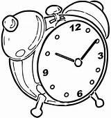 Alarm Coloring Printable Clo Cartoonized Ck Clock Mamvic Printables sketch template