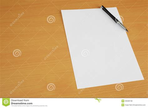 Paper On Desk by Paper On Desk Royalty Free Stock Photos Image 30508748