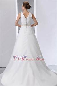 beaded belt v neck chapel wedding dress make your own With make your own wedding dress