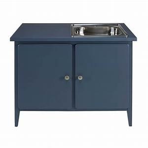 thelma meuble bas de cuisine 2 portes bleu grise With meuble bas de cuisine 120 cm 6 meubles sous evier comparez les prix pour professionnels