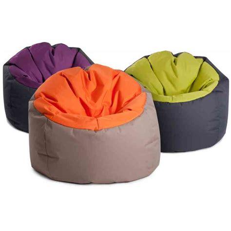 pouf geant pas cher pouf poire bowly moelleux gris et orange vente poufs sur pouf design