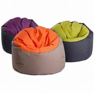 Pouf Poire Exterieur : pouf poire bowly moelleux gris et orange vente poufs sur pouf design ~ Teatrodelosmanantiales.com Idées de Décoration