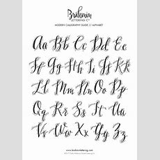 25+ Unique Modern Calligraphy Alphabet Ideas On Pinterest  Calligraphy Letters, Handwriting