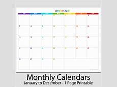 2018 12 Month Landscape Calendar 8 12