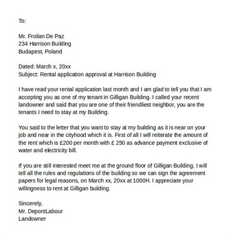 rental application cover letter 10 application cover letters sles exles 33513