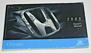 2004 Honda Odyssey Owners Manual Guide Book Oem