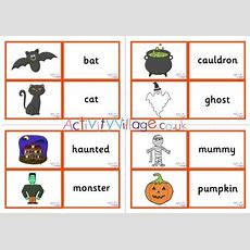 Halloween Vocabulary Matching Cards