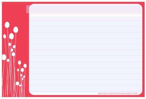 cute  recipe cards templates ginva