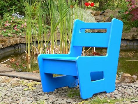 childrens garden chair recycled plastic