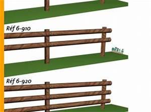 Poteau Bois Rond 3m : clotures bois menuiserie bertin ~ Voncanada.com Idées de Décoration