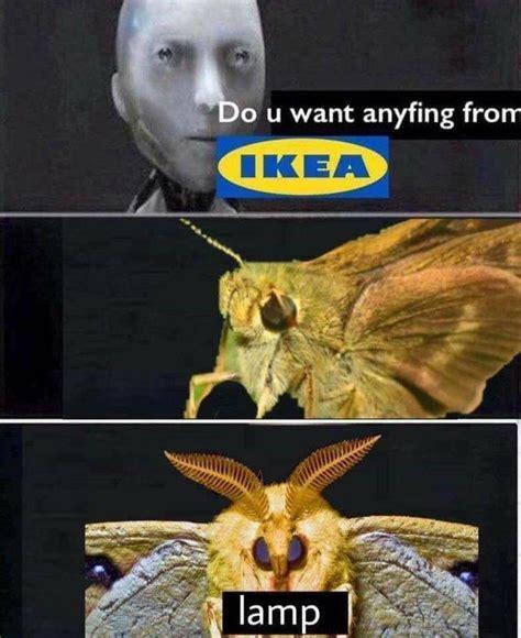 ikea moth lamp   meme