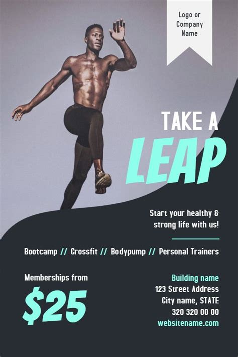 gym fitness flyer template modern fitness flyer gym