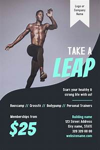 Gym, Fitness, Flyer, Template