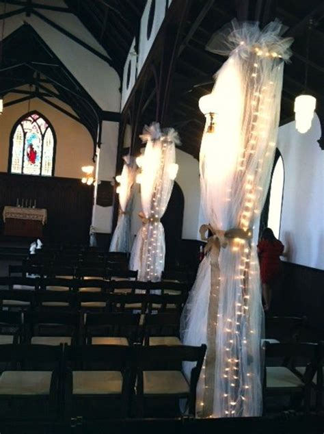 wrapped  columns   history chapel  tulle