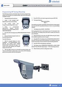 Rsi Videotechnologies Mv50 Outdoor Motion Viewer User
