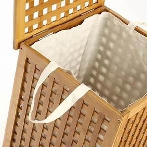 Panier à Linge Bambou : panier linge bambou panier linge eminza ~ Teatrodelosmanantiales.com Idées de Décoration