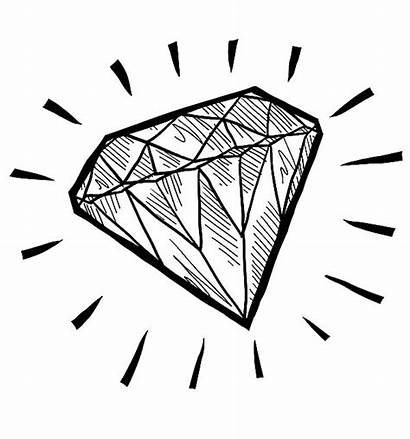 Diamond Coloring Shape Pages Sketch Play Round