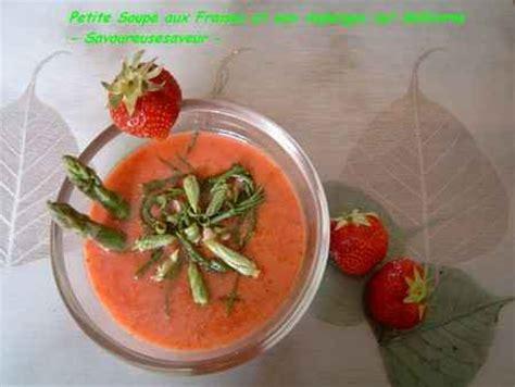 cuisiner salicorne recette soupe aux fraises et aux asperges sur