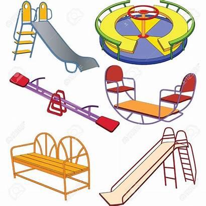 Playground Clipart Clip Swing Cartoon Animated Equipment