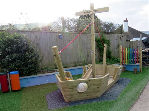 Play Boat by Wooden Play Houses And Play Ships For Outdoor Play Uk