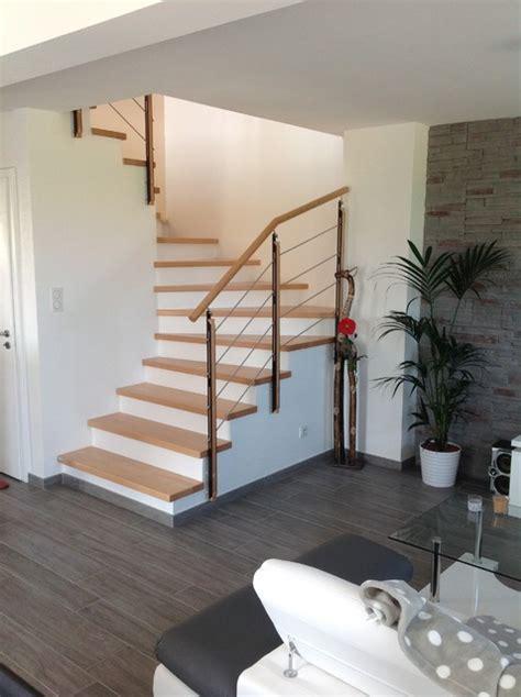 plafonnier de chambre habillage et garde corps pour escalier béton contemporain escalier strasbourg par