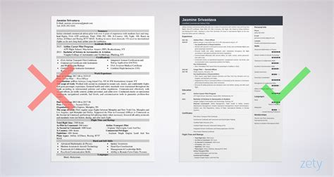 Professional Pilot Resume by Professional Pilot Resume Sle Guide 20