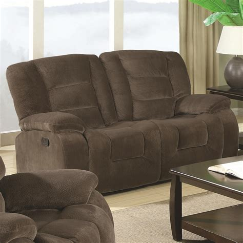 Coaster Loveseat by Coaster Furniture Brown Motion Loveseat The