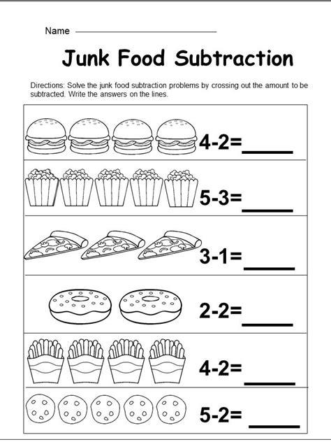 kindergarten subtraction worksheet kindermommacom